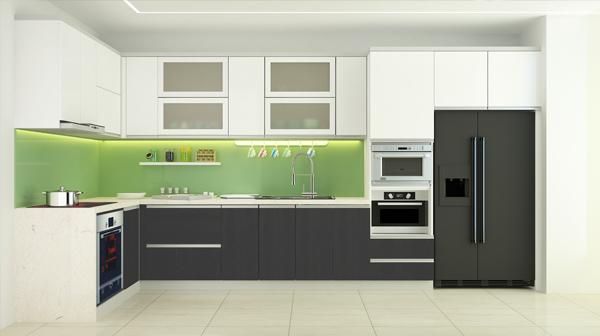 Nguyên nhân và cách khắc phục kính màu ốp bếp bị vỡ